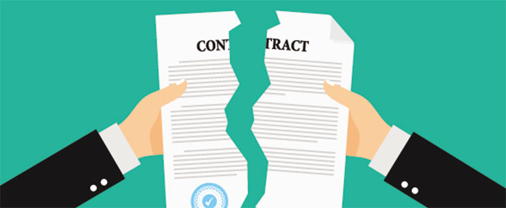 Villa Group Timeshare Cancellation contract Vector Image